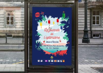 Affiche pour la journée de l'optimisme à Rennes