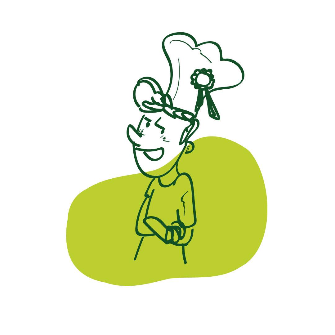 chef bonduelle atelier emotion végétale illustration