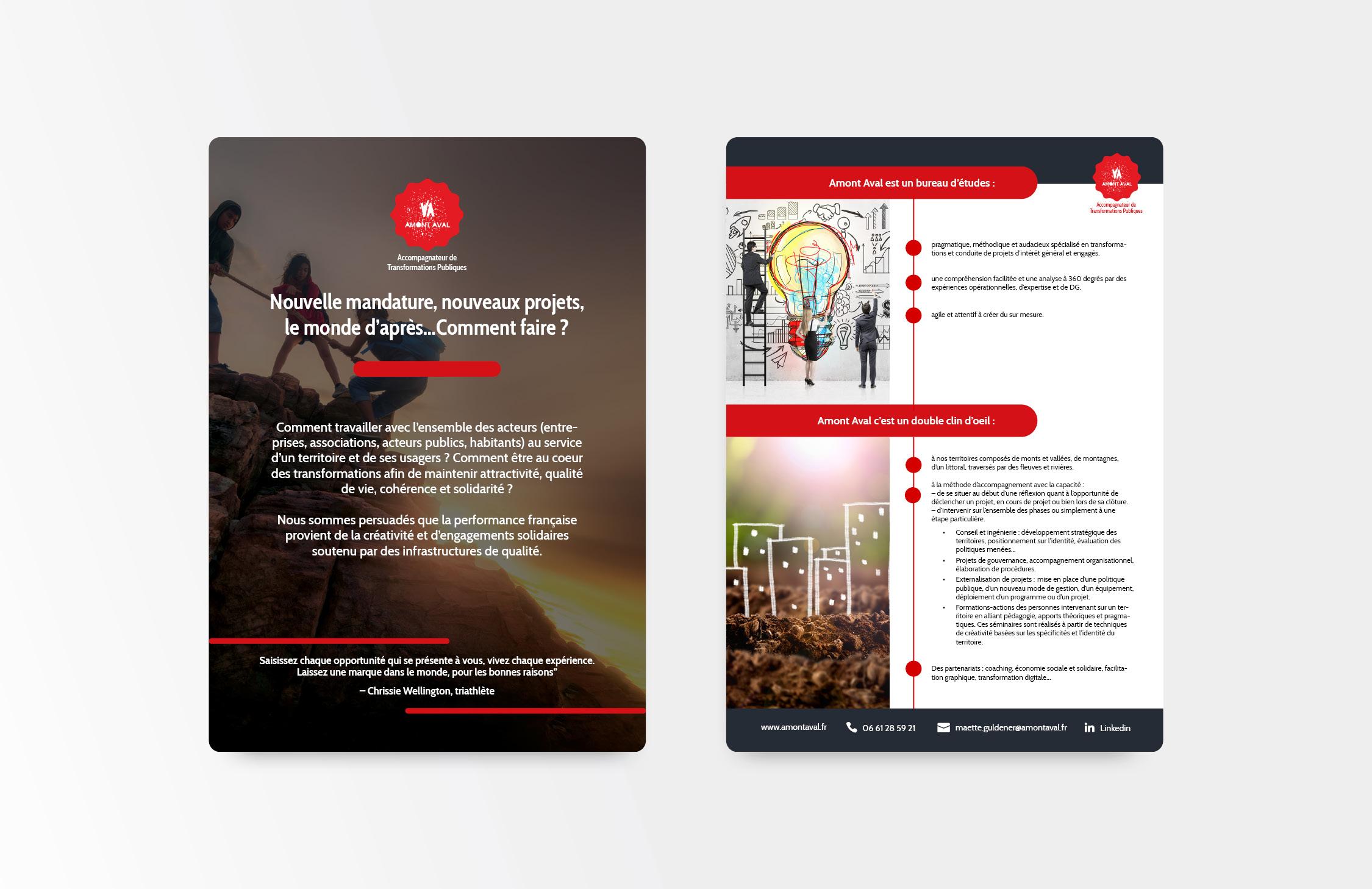 plaquette numerique entreprise amon aval creation webodea graphisme webdesign