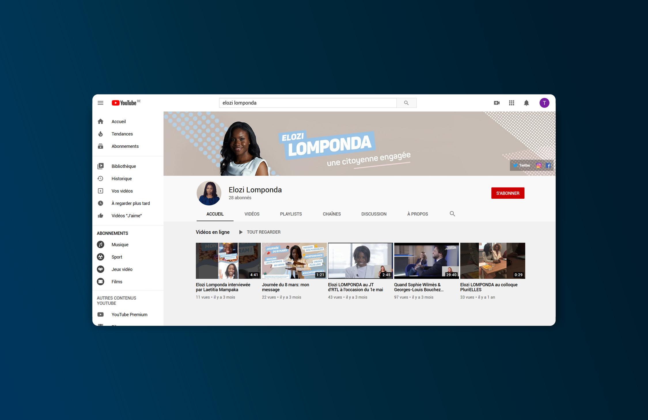 bannière youtube design graphisme video webodea