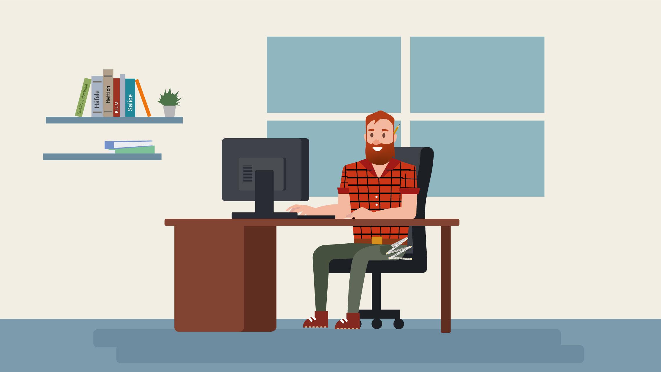 animation video montage personnage entreprise menuiserie wood it bruxelles webodea