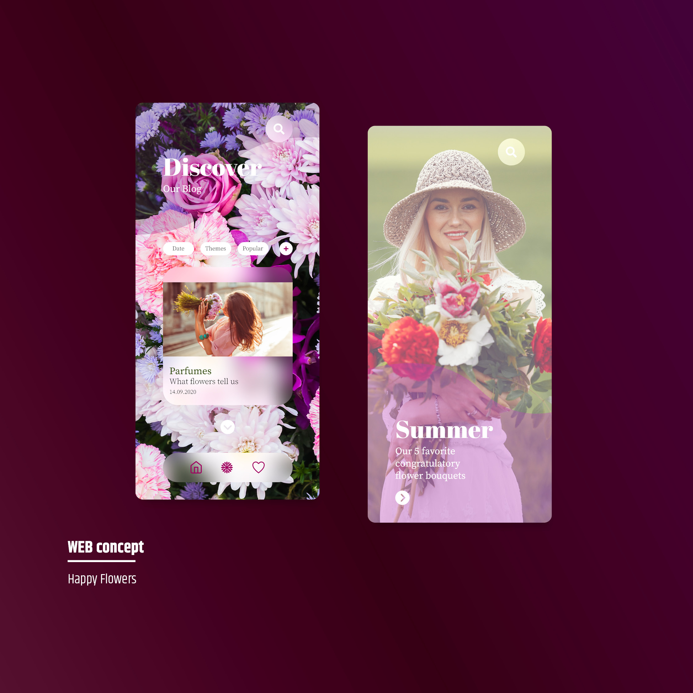 application web flowers webdesite webdesigner webdesign mobile webodea