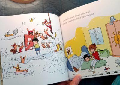 Illustration livre jeunesse : Gustin et le temps perdu