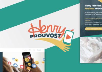 Création site web pour Henry Prouvost, Freelance Social Media Manager